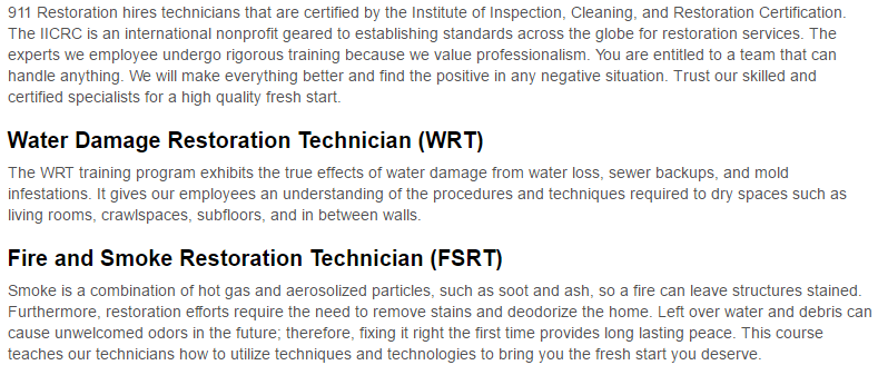 911 Restoration of Brooklyn Certification Page