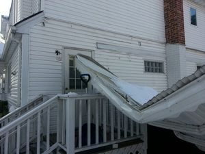 Water Damage Restoration From Carport Collapse In Heavy Snow